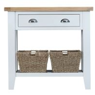 See more information about the Lighthouse Oak Top 1 Drawer Console Table - White
