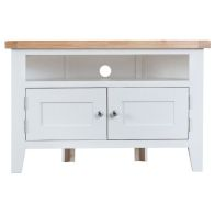 See more information about the Lighthouse Oak Top 2 Door Corner TV Cabinet White