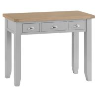 See more information about the Lighthouse Dressing Table Grey & Oak 3 Drawer