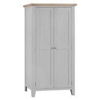 See more information about the Lighthouse Tall Wardrobe Grey & Oak 2 Door