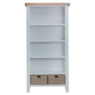 See more information about the Lighthouse Oak Top Large 5 Shelf Bookcase - Grey