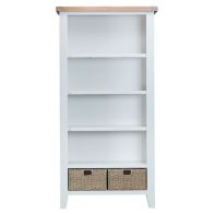 See more information about the Lighthouse Oak Top Large 5 Shelf Bookcase - White