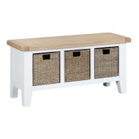 See more information about the Lighthouse Hall Bench Oak & White 3 Drawer