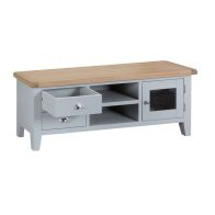 See more information about the Lighthouse TV Unit Grey & Oak 1 Door 2 Shelf 2 Drawer Large