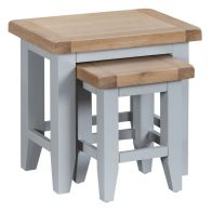 See more information about the Lighthouse Oak 2 Nest Of Tables Grey