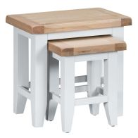 See more information about the Lighthouse Duo Nest of Tables Oak & White