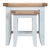 See more information about the Lighthouse Oak Top 2 Nest Of Tables White