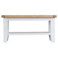 See more information about the Lighthouse Oak Top Small Coffee Table - White