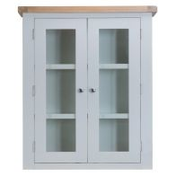 See more information about the Lighthouse Dresser Top Grey & Oak 2 Door 3 Shelf With Lights