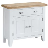 See more information about the Lighthouse Sideboard Oak & White 2 Door 1 Drawer