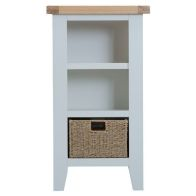 See more information about the Lighthouse Oak Top Small Narrow 3 Shelf Bookcase - Grey