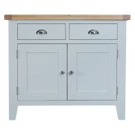 See more information about the Lighthouse Oak Top 2 Drawer 2 Door Sideboard - Grey