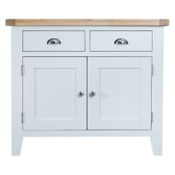 See more information about the Lighthouse Oak Top 2 Drawer 2 Door Sideboard - White