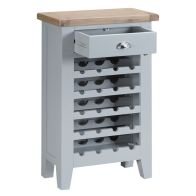 See more information about the Lighthouse Wine Rack Grey & Oak 5 Shelf 1 Drawer