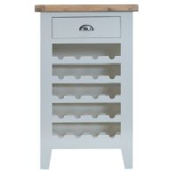 See more information about the Lighthouse Oak Top 1 Drawer Wine Cabinet - Grey