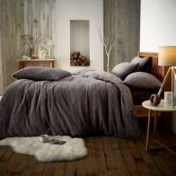 See more information about the Teddy Charcoal Fleece Duvet Cover Set - Single