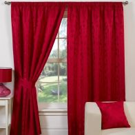 "See more information about the Fusion Trieste Curtains (45"" Width x 54"" Drop) - Red"