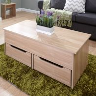 See more information about the Harper Coffee Table 2 Drawer Oak Style