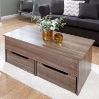 See more information about the Harper Coffee Table 2 Drawer Walnut Style