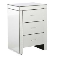 See more information about the Venetian 3 Drawer Bedside Clear Mirror Finish