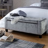 See more information about the Verona Storage Ottoman Grey & Crushed Velvet