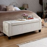 See more information about the Verona Storage Ottoman Cream & Crushed Velvet