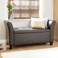 See more information about the Verona Window Seat - Brown PU