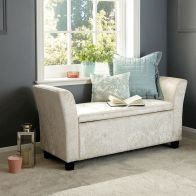 See more information about the Verona Crushed Velvet Cream Storage Window Seat