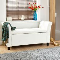 See more information about the Verona Faux Leather White Storage Window Seat