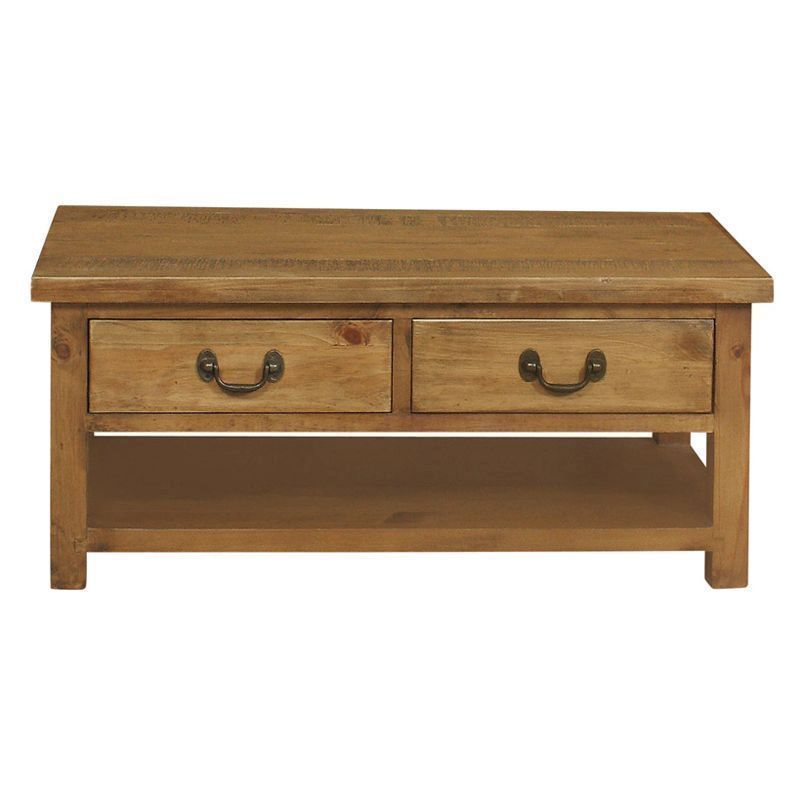 Lane Coffee Table With Drawers: Buy Rustic Oak 2 Drawer Coffee Table