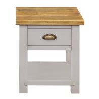 See more information about the Dovetale Oak 1 Drawer Lamp Table
