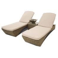 See more information about the Winchester 3 Piece Garden Sunlounger Brown