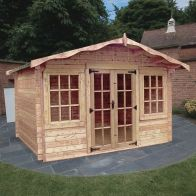 See more information about the Albany Sheds Charnwood 12' x 8' Apex Wood Garden Summer House