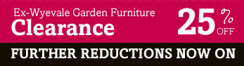 Ex Wyevale Garden Furniture Clerance