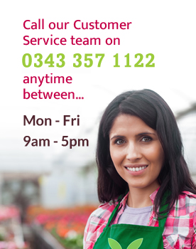 call customer services - 0843 357 1122